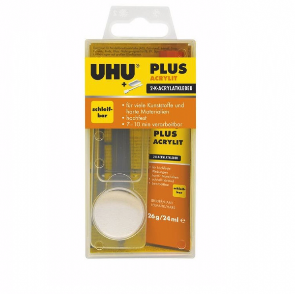 UHU Plus Acrylit Tube Binder Powder Hardener 30g